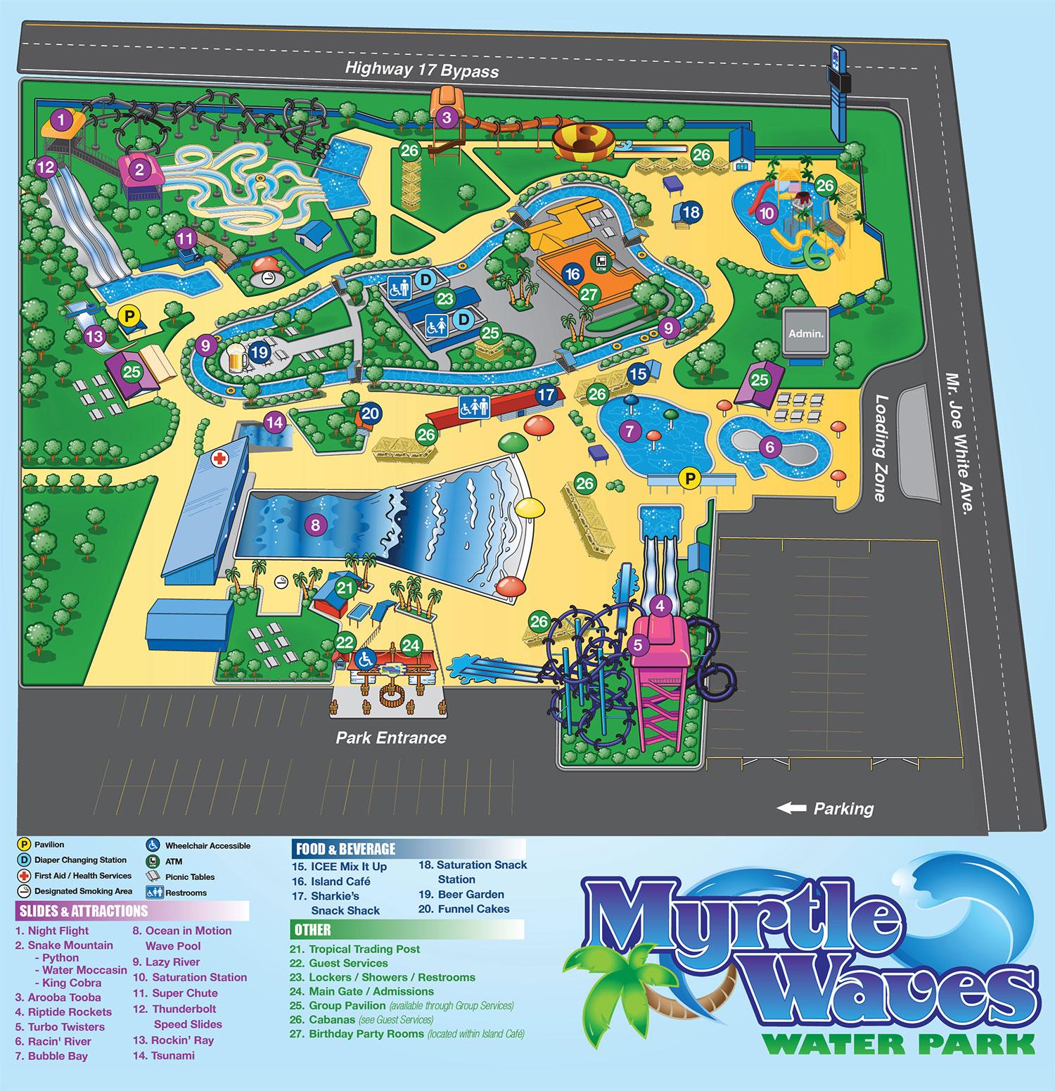 Park Info Myrtle Waves Myrtle Beach Water Park Myrtle Beach SC